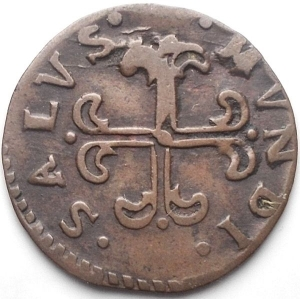 reverse: Piacenza. Filippo di Borbone. 1748-1765. Sesino Cu. Peso gr. 1,03. BB+