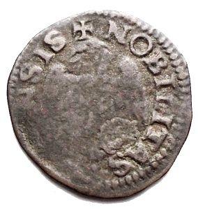 reverse: Reggio Emilia. Alfonso II. 1559-1597. Sesino con l'unicorno. MI. MIR 1347. Peso gr. 0,75. qBB. Raro