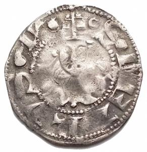 obverse: Roma. Anonime (XIV sec.). Bolognino romano. M. 1. AG. g 1,18. MB-BB