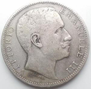 obverse: Vittorio Emanuele III. 2 Lire 1905. Aquila Sabauda. Pagani 729. BB