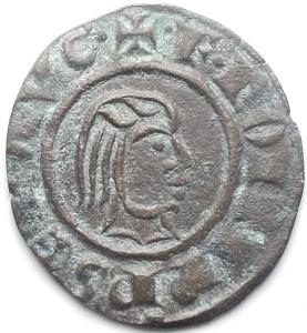 obverse: Brindisi. Federico II. 1197-1250. Denaro 1244, con testa nuda a destra e aquila. MI. gr 0,68. mm 16,09 x 17,57. Sp. 128. Buona conservazione