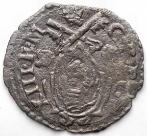reverse: Ancona. Gregorio XIII (1572-1585). Quattrino. CNI 356. MI. g 0,62. BB+