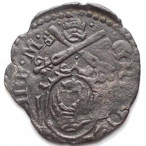 obverse: Ancona. Gregorio XIII (1572-1585). Quattrino. CNI 356. MI. g 0,71. BB+