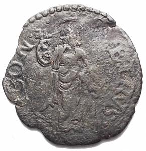 reverse: Ancona. Gregorio XIII (1572-1585). Quattrino. CNI 356. MI. g 0,71. BB+