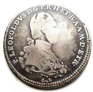 obverse: FIRENZE. PIETRO LEOPOLDO DI LORENA (1765-1790), MEZZO FRANCESCONE 1787 Ag MIR 387/3  Molto raro