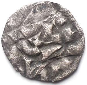 reverse: Lucca (1035-1125) Denaro D/ H in centro. gr 0,47