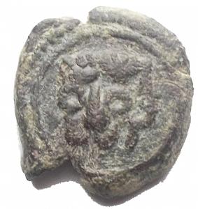 obverse: MESSINA - Guglielmo II (1166-1189) - Follaro - Testa di leone - R/ Iscrizione cufica - (AE g. 2,22) Spahr 118; MIR 37; BB-qSPL
