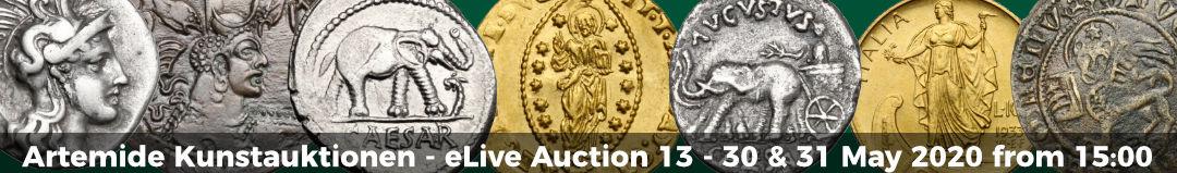 Banner Artemide eLive Auktion 13