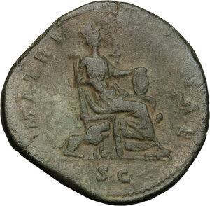 reverse: Faustina II, wife of Marcus Aurelius (died 176 AD).. AE Sestertius, struck under Marcus Aurelius