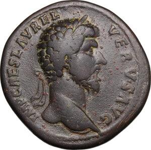 obverse: Lucius Verus (161-169).. AE Sestertius, 161 AD