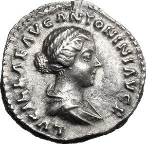 obverse: Lucilla, wife of Lucius Verus (died 183 AD).. AR Denarius, struck under Marcus Aurelius