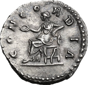 reverse: Lucilla, wife of Lucius Verus (died 183 AD).. AR Denarius, struck under Marcus Aurelius