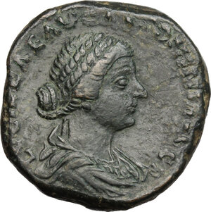 obverse: Lucilla, wife of Lucius Verus (died 183 AD).. AE Sestertius, struck under Marcus Aurelius