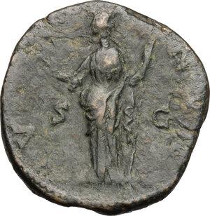 reverse: Lucilla, wife of Lucius Verus (died 183 AD).. AE Sestertius, struck under Marcus Aurelius