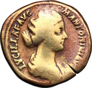 obverse: Lucilla, wife of Lucius Verus (died 183 AD).. AE Sestertius, struck under Marcus Aurelius, c. 164-169