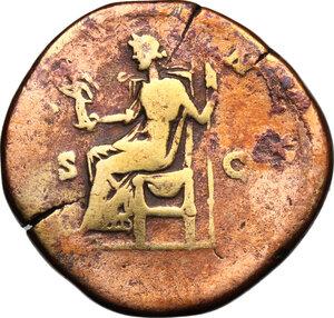 reverse: Lucilla, wife of Lucius Verus (died 183 AD).. AE Sestertius, struck under Marcus Aurelius, c. 164-169