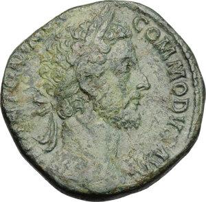 obverse: Commodus (177-193).. AE Sestertius, 181-182 AD