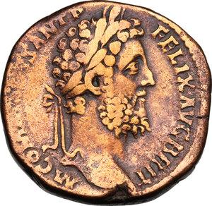 obverse: Commodus (177-193).. AE Sestertius, 190 AD