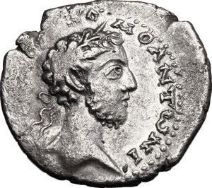 obverse: Commodus (177-193).. AR Didrachm, Cappadocia, Caesarea mint, 183-185