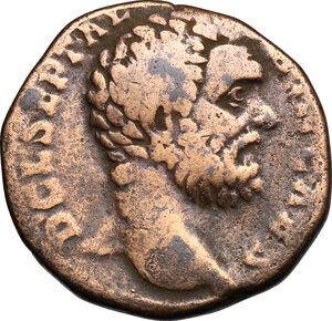 obverse: Clodius Albinus (193-197).. AE Sestertius, 194-195