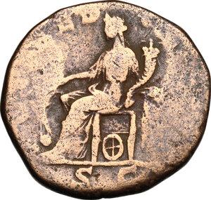 reverse: Clodius Albinus (193-197).. AE Sestertius, 194-195