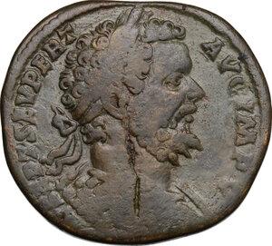obverse: Septimius Severus (193-211).. AE Sestertius, 195 AD