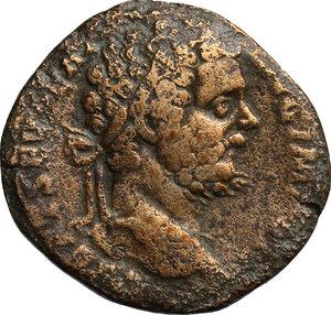 obverse: Septimius Severus (193-211) . AE Sestertius, 195-196 AD