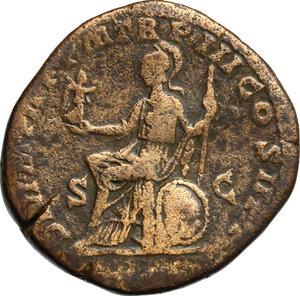 reverse: Septimius Severus (193-211) . AE Sestertius, 195-196 AD