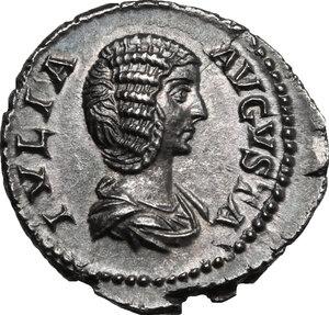 obverse: Julia Domna, wife of Septimius Severus (died 217 AD).. AR Denarius, struck 207-211 AD