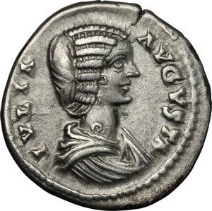 obverse: Julia Domna, wife of Septimius Severus (died 217 AD).. AR Denarius, 196-202
