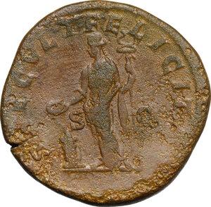 reverse: Julia Domna, wife of Septimius Severus (died 217 AD).. AE Sestertius, 211-217