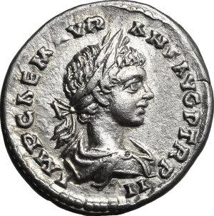 obverse: Caracalla (198-217). AR Denarius, 199 AD