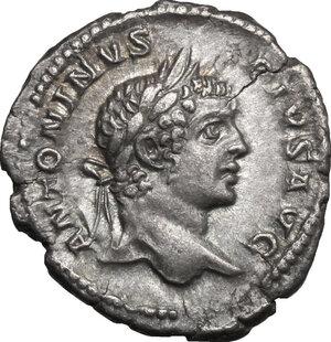 obverse: Caracalla (198-217). AR Denarius, 207 AD