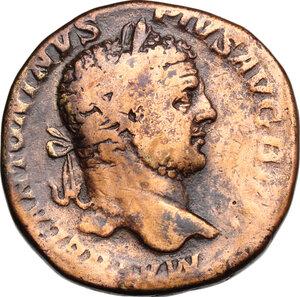 obverse: Caracalla (198-217).. AE Sestertius, 212 AD