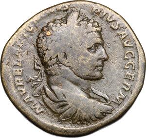 obverse: Caracalla (198-217).. AE Sestertius, 215 AD