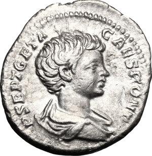 obverse: Geta as Caesar (198-209).. AR Denarius, 200-202