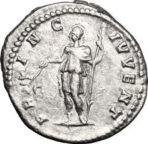 reverse: Geta as Caesar (198-209).. AR Denarius, 200-202