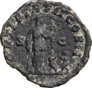 reverse: Geta (209-212).. BI cast As, Gallia. 210 AD