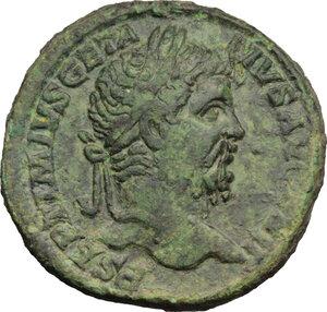 obverse: Geta (209-212).. AE Sestertius, circa 211