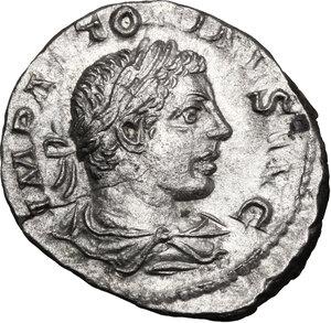 obverse: Elagabalus (218-222).. AR Denarius