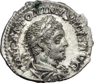 obverse: Elagabalus (218-222).. AR Denarius, Rome mint, 222 AD