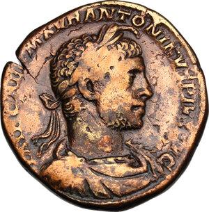obverse: Elagabalus (218-222).. AE Sestertius, 221 AD