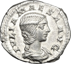 obverse: Julia Maesa, grandmother of Elagabalus (died 225 AD). AR Denarius, 218-220 AD