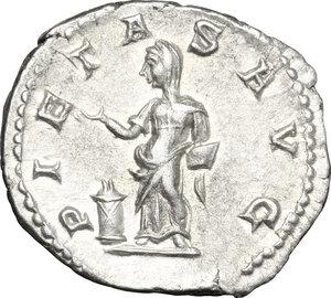 reverse: Julia Maesa, grandmother of Elagabalus (died 225 AD). AR Denarius, 218-220 AD