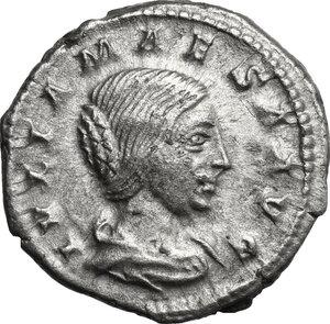 obverse: Julia Maesa, grandmother of Elagabalus (died 225 AD).. AR Denarius, struck under Elagabalus, 218-220 AD