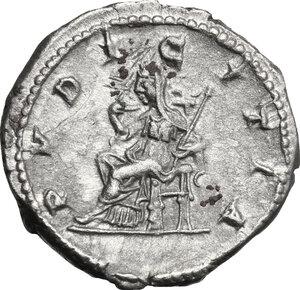 reverse: Julia Maesa, grandmother of Elagabalus (died 225 AD).. AR Denarius, struck under Elagabalus, 218-220 AD