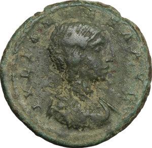 obverse: Julia Maesa, grandmother of Elagabalus (died 225 AD).. AE As, 218-222