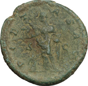 reverse: Julia Maesa, grandmother of Elagabalus (died 225 AD).. AE As, 218-222
