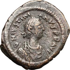 obverse: Justinian I (527-565).. AE Pentanummium, Antioch mint, 537-557