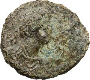 obverse: Justinian I (527-565).. AE Decanummium. Rome mint. Struck circa 545